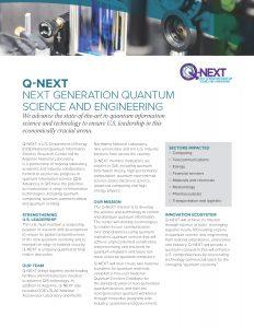 Q-NEXT Fact Sheet