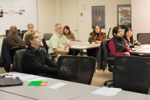 Captive Audience: Members of the Argonne chapter of Toastmasters International give their full attention to a speaker at a recent meeting. The club meets meets every second and fourth Wednesday at noon in Building 201, Conference Room 190.