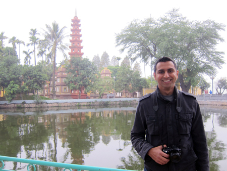 Anubhav Jain vacationing in Hanoi, Vietnam. Dr. Jain recently received the 2014 early career award for innovative use of HPC from DOE's National Energy Research Scientific Computing Center.