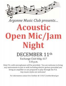 Acoustic Open Mic 2014