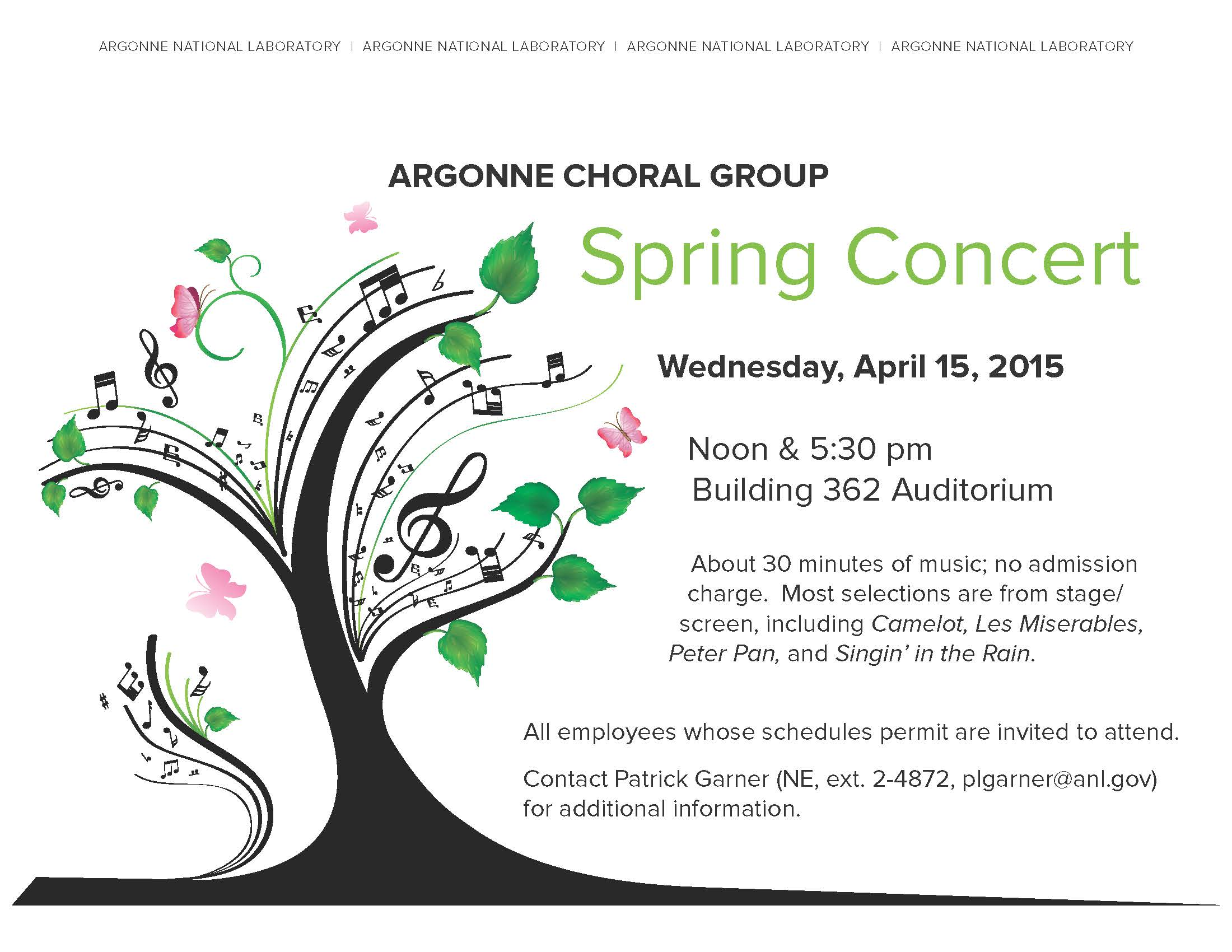 You Are Invited To The Argonne Choral Group S 2015 Spring