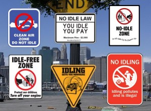 idling signs